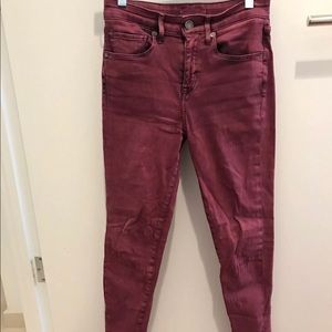 Levi's Made & Crafted Red High Skinnies